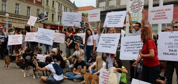 građani, članice Mreže i psi pozvali na provedbu Zakona